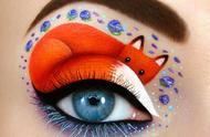 艺术家通过唯美的眼妆描述童话般的场景
