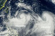 利奇马罗莎双台风风眼突现,或都直奔强台风!利奇马路径仍波动大