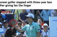 超级重罚!韩国高尔夫选手竖中指怼球迷惹祸 下跪道歉仍被禁赛3年