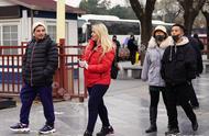 零下5℃低溫,中外游客冒嚴寒游天安門故宮,武警戰士英姿颯爽