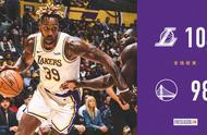 NBA季前赛湖人104:98战胜勇士,霍华德12+13+6,库里17分3助攻