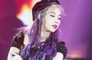 IU亚巡会全新紫色发型,是我的仙女没错啦!
