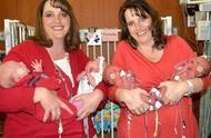 美国双胞胎姐妹相隔一个月,都生下双胞胎,复制粘贴让人眼花缭乱