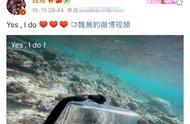 魏晨深夜晒潜水视频,水中献上钻戒浪漫求婚成功