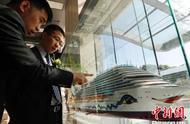 中国首艘自主设计建造国产大型邮轮在上海开工建造