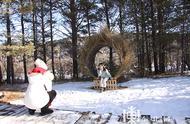 """漠河市气温破零下30度 北极村打卡景观成朋友圈""""集赞利器"""""""