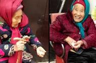幸福!107岁妈妈给84岁女儿捎糖吃