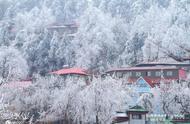 江西庐山迎来2019年入冬首场降雪和雾凇双景观