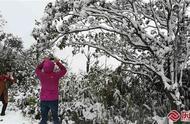柘荣东狮山迎来降雪