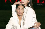 林志玲和AKIRA共拍杂志封面,新婚亲密有爱,甜蜜亲吻