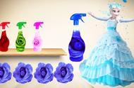 冰雪奇缘艾莎公主换上了不同的裙子和装扮,太漂亮了!