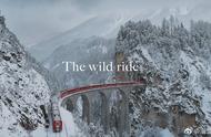 搭乘一辆瑞士的雪国列车,穿梭在冬日的冰川与森林