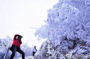 白云山下雪了,宛如仙境!