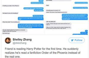 读完一整本哈利波特后,他发现自己看了假书