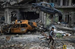 战火中的伊拉克——迷茫惊慌的妇女和孩子