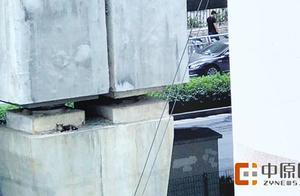 一只小猫被困7米高桥墩上 被热心市民安全营救回地面