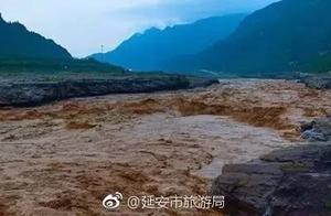 """壶口瀑布""""消失""""看不见了?因为黄河里的水直接满了"""