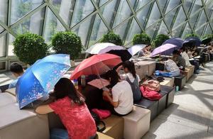 """深圳市民在图书馆打""""雨伞""""看书,设计师怎想的"""