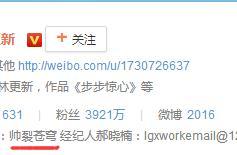 10位当红明星的微博简介,中文英文搞笑严肃哪家强?林更新完胜啊