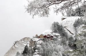 西岳华山首迎瑞雪,现雾凇奇观,网友说:十年难遇,美若仙境