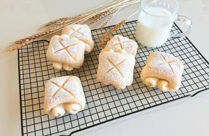 日式牛奶面包卷#跨界烤箱 探索味来#