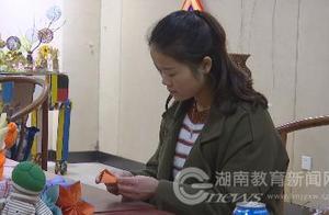湖南幼专学校:师生变废为宝 制作环保工艺品
