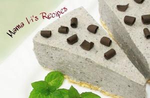 8寸黑芝麻豆腐芝士蛋糕(免烤)