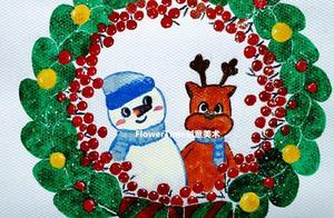 圣诞主题绘画《圣诞花环》——零基础水粉系列15
