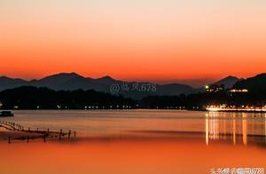 杭州西湖和心爱的人看夕阳,也许是这辈子最幸福的一件