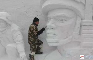 新疆小伙街头雕雪13年,日收入上千,最快两小时做一个