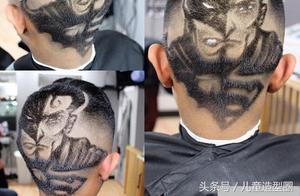 在头上搞雕刻艺术,还把超级英雄纹在头上真够绝了!