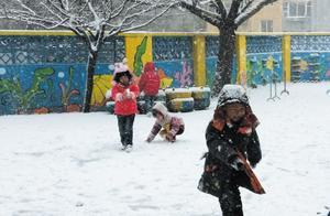下雪天,四岁男孩儿独自去上学,这妈妈的心有多大