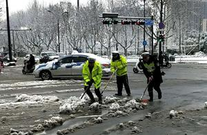杭州部分道路受大雪影响封闭 近日易结冰路段请收好