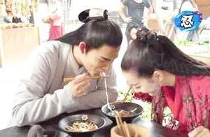 荧屏CP同吃一碗面,杨紫邓伦最高甜,迪丽热巴竟害羞了