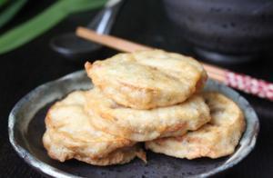 """酥炸藕盒,脆中带糯夹着香香的肉馅是一道很不错的""""晚茶"""""""