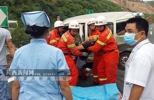 梧州:高速交通事故致1死4伤 事故原因正在调查