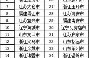 2018最新全国百强县排行榜:全国综合实力百强县名单