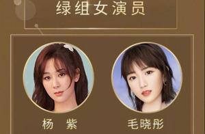 中国电视好演员投票出炉:杨紫稳居绿组榜首,3位小花势头正猛
