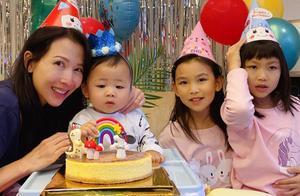 蔡少芬晒照庆儿子鱼蛋1岁生日,圆脸像爸爸张晋,幸福直言想流泪