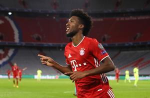 这就是效率!4-0胜马竞,拜仁边锋科曼射门两次即取得两粒进球