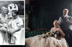 孙女为祖父母拍摄古稀婚纱照,纪念钻石婚,另类唯美感动无数网友