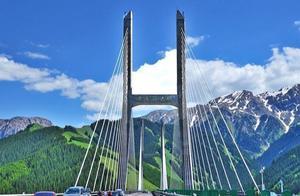果子沟大桥:中国首座公路钢桁梁斜拉桥,桥上看风景壮观且震撼