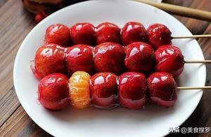 这个方法做出来的冰糖葫芦,酸甜可口、晶莹透亮、酥脆好吃不粘牙