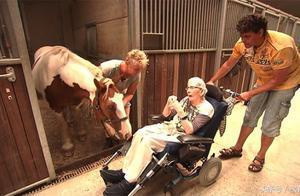 87岁老人的临终心愿就是再骑一次马,愿望成真了,真好