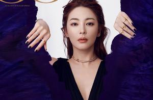 张雨绮最新时尚大片给人浮光掠金般的美感,浓烈的颜色,高贵冷艳