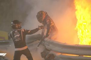 F1赛车撞场边炸裂成火球 18秒过去 车手奇迹走出车外