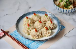软糯Q弹的珍珠糯米丸子,咬一口香甜软糯,简单好做,不用泡米
