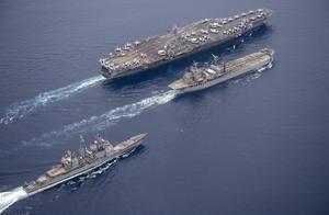 对华暗斗到明争,美航母重返南海,辽宁舰包抄西太,战力覆盖关岛