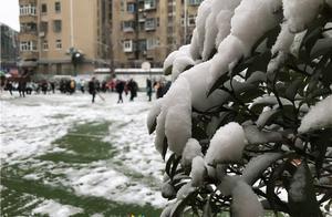 徐州市奎山中心小学开展清扫校园堆雪人活动