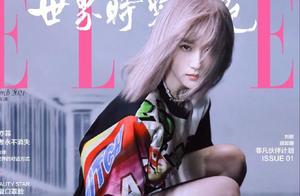 刘亦菲杂志封面造型,二次元粉发美少女和三次元酷飒,变幻莫测